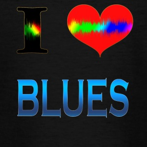 I Love BLUES - Teenager-T-shirt