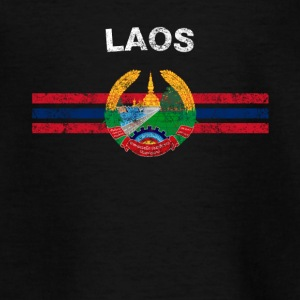 Laotian Flag Shirt - Laotian Emblem & Laos Flag Sh - Teenage T-shirt