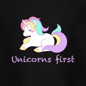 Unicorns first - Teenage T-shirt