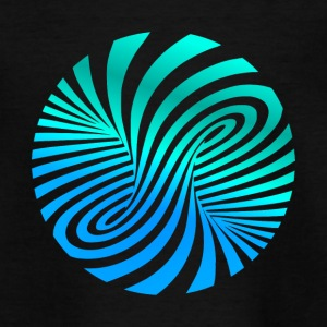 psychedelic Optik Illusion Türkis optical Art 60er - Teenager T-Shirt
