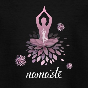 Namaste Yoga meditation exercise breathe feeling pink lo - Teenage T-shirt
