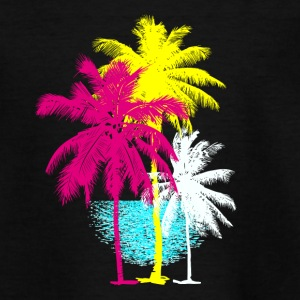 Palms Florida Miami Retro caribiske sol til Hawaii - Teenager-T-shirt