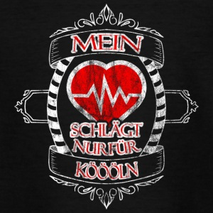 Mit hjerte banker kun for Koeln - Teenager-T-shirt