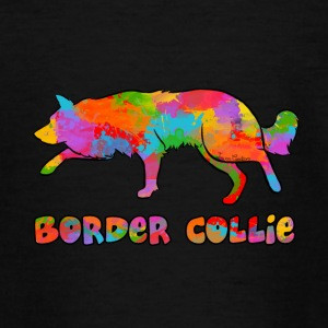 Border Collie Rainbow sky - Teenage T-shirt