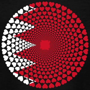 Bahrain البحرين Bahrein Love Herz Mandala - Teenager T-Shirt