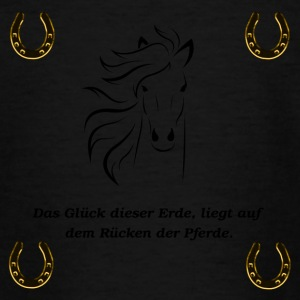 Horseshoes, paard, ruiter - Teenager T-shirt