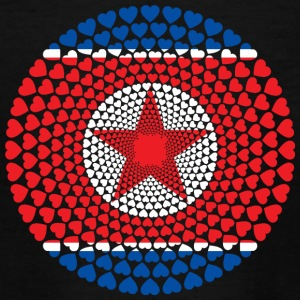 North Korea North Korea 민주주의 인민 공화국 공화국 Heart Mandala - Teenage T-shirt