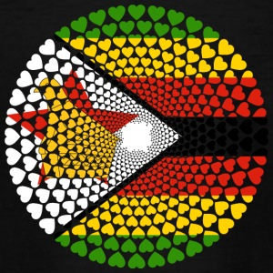 Zimbabwe Zimbabwe Great Zimbabwe Love Heart Mandala - Teenager T-shirt