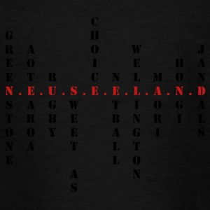 Neuseeland Scrabble rot - Teenager T-Shirt