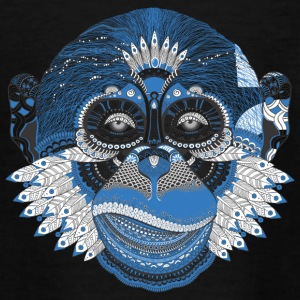Indianer Gorilla Kopf - Teenager T-Shirt