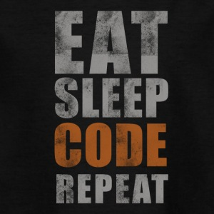 EAT SLEEP CODE REPEAT - Teenager-T-shirt