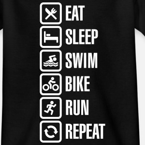 Eat sleep swim bike run repeat - triathlon