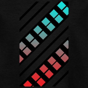 Blue and red Pattern - Teenage T-shirt