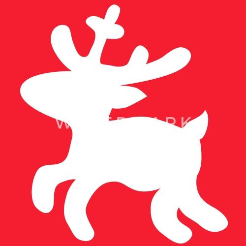 Ciervo De Renos De Navidad Por Le Shirt Spreadshirt - Ciervo-navidad