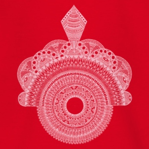 Mandala white - Teenage T-shirt