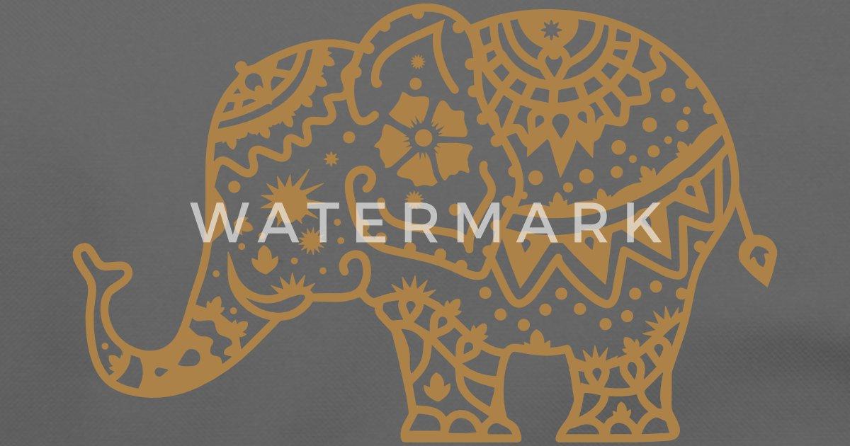 Dekorerad indiska elefanten Axelremsväska | Spreadshirt