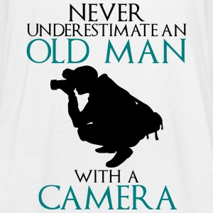 Never Underestimate Old man with camera - funny - Women's Tank Top by Bella