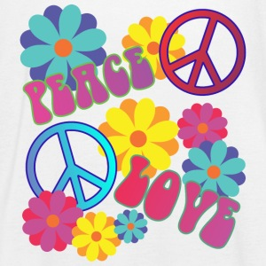 love peace hippie flower power - Women's Tank Top by Bella