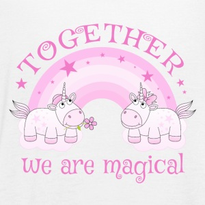 Unicorn love rainbow Together we are magical - Women's Tank Top by Bella