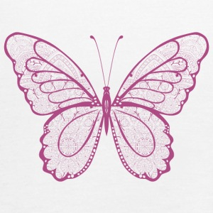 Butterfly in pink, hand drawn - Women's Tank Top by Bella