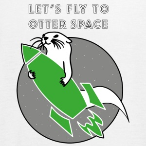LET'S FLY TO OTTERSPACE - GREEN RAKETS - Women's Tank Top by Bella