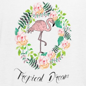 Flamingo - Tropical Dream - Blumenkranz - Women's Tank Top by Bella