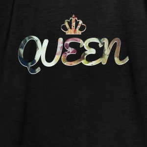 QUEEN CROWN QUEEN KWIATU WZÓR MOTIVE - Tank top damski Bella