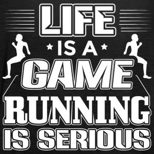 Running Life Is A Game Funny Runner Running Shirt - Women's Tank Top by Bella