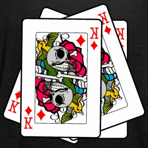 POKER SKULL - Tank top damski Bella