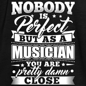 Funny Musician Music T Shirt Nobody Perfect - Women's Tank Top by Bella
