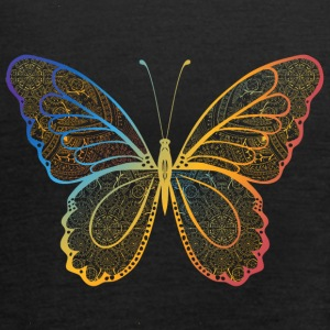 Butterfly in regenbogefarben hand drawn, - Women's Tank Top by Bella