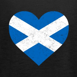 Scotland Flag Shirt Heart - Scottish Shirt - Women's Tank Top by Bella