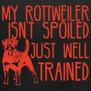 Dog / Rottweiler: My Rottweiler Isn't Spoiled - Women's Tank Top by Bella