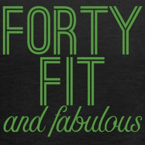 40th Birthday: Forty Fit And Fabulous - Women's Tank Top by Bella