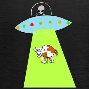 Cow and UFO - Women's Tank Top by Bella