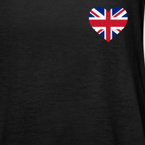 UK Flag shirt Hart - Brittish Shirt - Vrouwen tank top van Bella