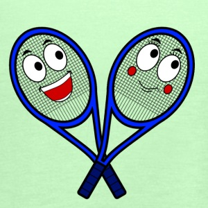 Cute Tennis Rackets - Women's Tank Top by Bella