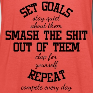 Set Goals and Compete Every Day - Motivation - Tanktopp dam från Bella