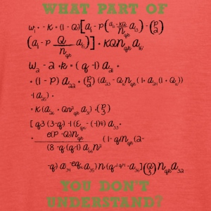 Mathematics / Physics / Nerd: What Part Of This Form - Women's Tank Top by Bella