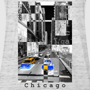 Chicago Monochrom Negativ - Frauen Tank Top von Bella