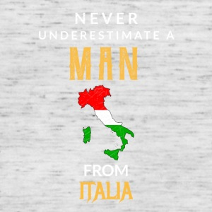 Never underestimate a Man from Italy! - Women's Tank Top by Bella