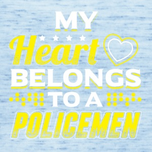 My Heart Belongs To A Policeman - Women's Tank Top by Bella