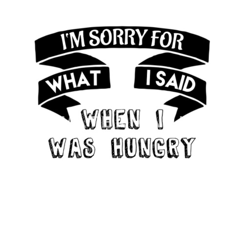 Lustige Spruche Hunger Geschenkidee Sorry Hungrig Trinkflasche