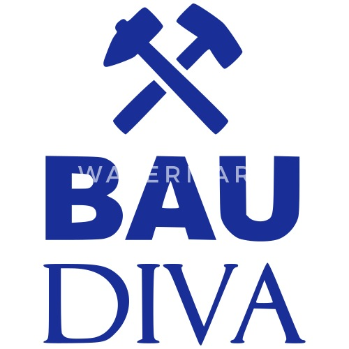 Bau Diva Fur Bauarbeiterinnen Auf Der Baustelle Trinkflasche