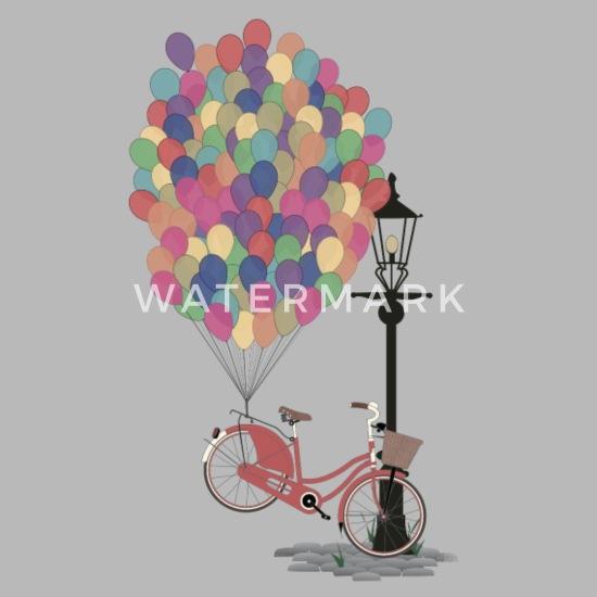 Sykkel med ballonger Ryggsekk | Spreadshirt