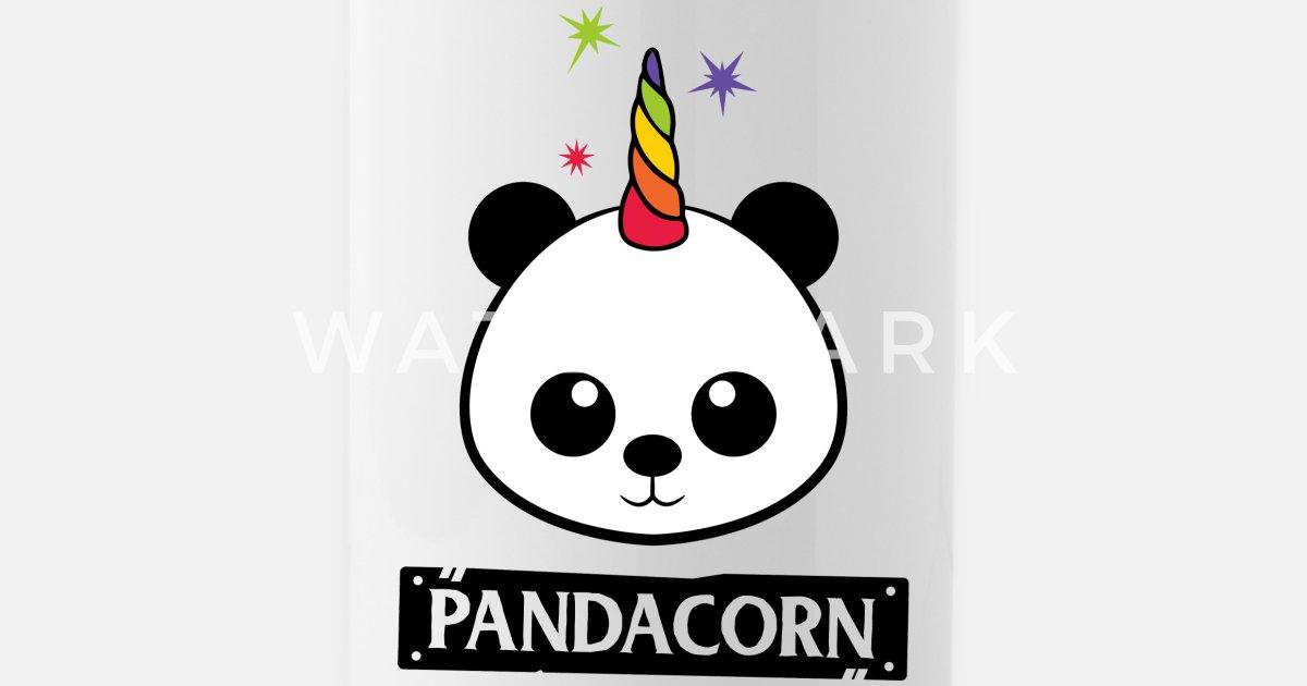 Pandacorn Panda Licorne Kawaii Funny Rainbow Gourde Spreadshirt