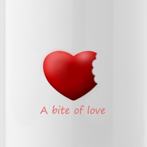 Heart bite of love. Nice and cute design - Water Bottle