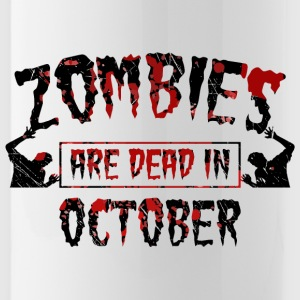 Zombies are dead in october - Birthday Birthday - Water Bottle