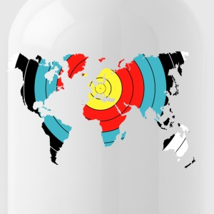 Archery World Map - Water Bottle