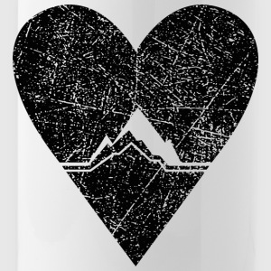 Mountain love - used / vintage look - Water Bottle